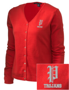 Parkland High School Trojans Embroidered Women's Stretch Cardigan Sweater
