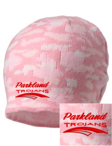 Parkland High School Trojans Embroidered Camo Beanie