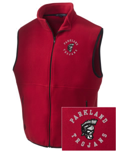 Parkland High School Trojans Embroidered Men's Fleece Vest