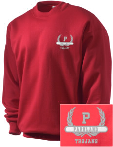 Parkland High School Trojans Embroidered Men's Crewneck Sweatshirt