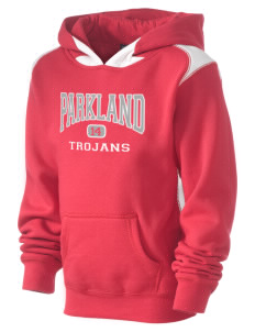 Parkland High School Trojans Kid's Pullover Hooded Sweatshirt with Contrast Color