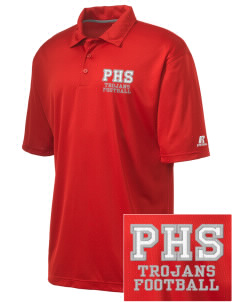 Parkland High School Trojans Embroidered Russell Coaches Core Polo Shirt