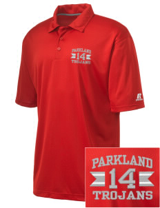 Parkland High School Trojans Embroidered Men's Russell Coaches Core Polo Shirt