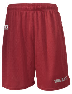 "Parkland High School Trojans  Russell Men's Mesh Shorts, 7"" Inseam"