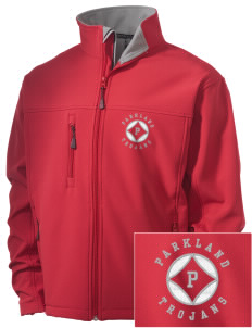 Parkland High School Trojans Embroidered Men's Soft Shell Jacket