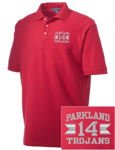 Parkland High School Trojans Embroidered Men's Performance Plus Pique Polo