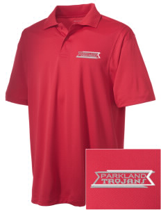 Parkland High School Trojans Embroidered Men's Micro Pique Polo