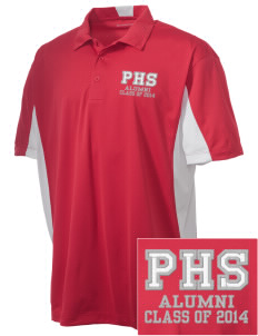 Parkland High School Trojans Embroidered Men's Side Blocked Micro Pique Polo