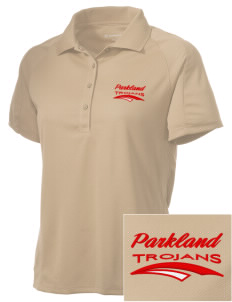 Parkland High School Trojans Embroidered Women's Polytech Mesh Insert Polo