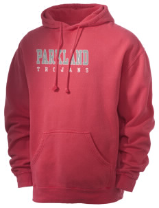 Parkland High School Trojans Men's 80/20 Pigment Dyed Hooded Sweatshirt
