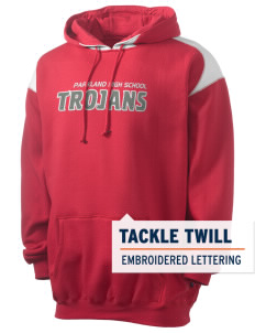 Parkland High School Trojans Men's Pullover Hooded Sweatshirt with Contrast Color with Tackle Twill