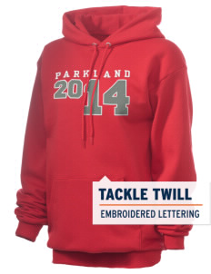 Parkland High School Trojans Embroidered Unisex 7.8 oz Lightweight Hooded Sweatshirt with Tackle Twill
