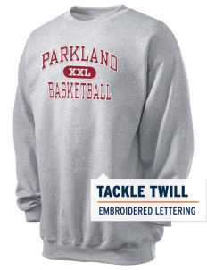 Parkland High School Trojans Men's 7.8 oz Lightweight Crewneck Sweatshirt with Tackle Twill