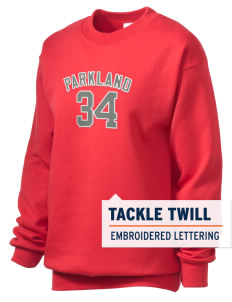 Parkland High School Trojans Unisex Crewneck Sweatshirt with Tackle Twill