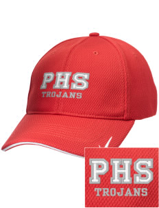 Parkland High School Trojans Embroidered Nike Dri-Fit Mesh Swoosh Flex Sandwich Cap