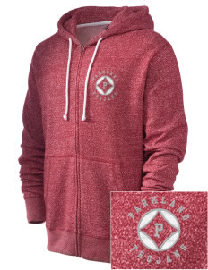 Parkland High School Trojans Embroidered Men's Marled Full-Zip Hooded Sweatshirt