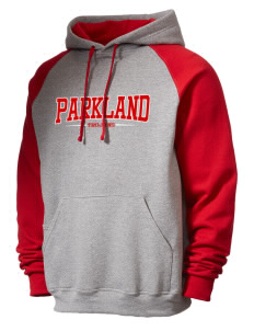 Parkland High School Trojans Men's 50/50 NuBlend Colorblock Hooded Sweatshirt