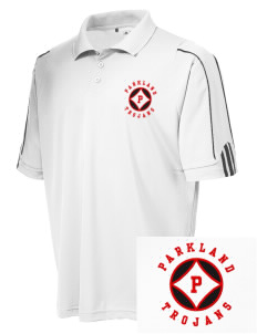 Parkland High School Trojans adidas Golf Men's ClimaLite 3-Stripes Cuff Polo
