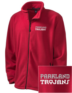 Parkland High School Trojans Embroidered Men's Wintercept Fleece Full-Zip Jacket