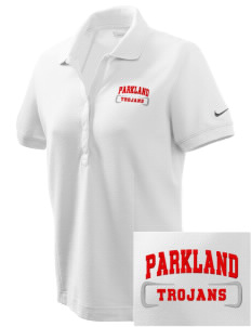 Parkland High School Trojans Embroidered Nike Women's Pique Golf Polo