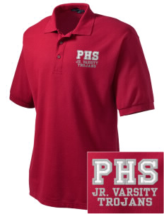 Parkland High School Trojans Embroidered Tall Men's Silk Touch Polo