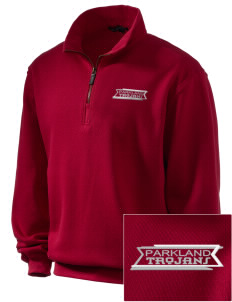 Parkland High School Trojans Embroidered Men's 1/4-Zip Sweatshirt