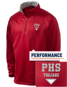 Parkland High School Trojans Embroidered Men's 1/4-Zip Performance Fleece