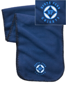 North Penn High School Knights Embroidered Fleece Scarf