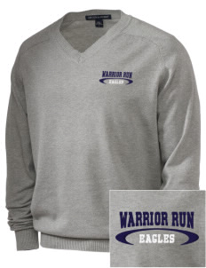 Warrior Run Middle School Eagles Embroidered Men's V-Neck Sweater