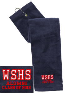 West Snyder High School Mounties Embroidered Hand Towel with Grommet
