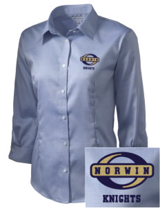 Norwin High School Knights Embroidered Women's 3/4 Sleeve Non-Iron