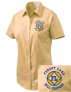 Forest Lane Elementary School Hill Toppers Embroidered Women's Easy Care Short Sleeve Shirt
