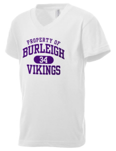 Burleigh Elementary School Vikings Kid's V-Neck Jersey T-Shirt