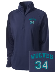 Alta Vista Elementary School Wolves Embroidered Ladies Stretched Half-Zip Pullover