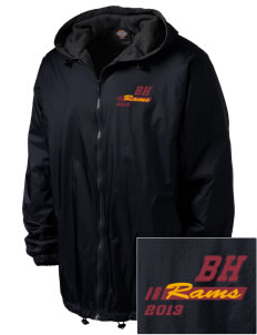 Big Horn Elementary School Rams Embroidered Dickies Men's Fleece-Lined Hooded Jacket