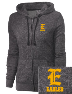 Wharton Elementary School Eagles Embroidered Women's Marled Full-Zip Hooded Sweatshirt