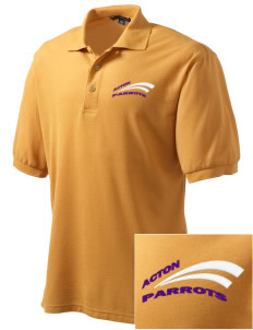 Acton Elementary School Parrots Embroidered Men's Silk Touch Polo