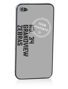 Grandview Elementary School Zebras Apple iPhone 4/4S Skin