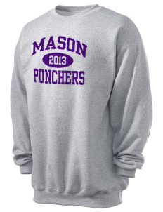Mason High School Punchers Men's 7.8 oz Lightweight Crewneck Sweatshirt