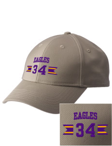 Pecos Seventh Grade School Eagles  Embroidered New Era Adjustable Structured Cap