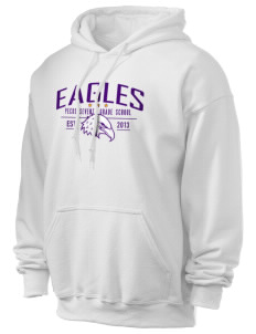 Pecos Seventh Grade School Eagles Ultra Blend 50/50 Hooded Sweatshirt