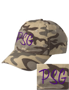 Pecos Seventh Grade School Eagles Embroidered Camouflage Cotton Cap