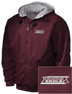 Hearne High School Eagles Embroidered Holloway Men's Hooded Jacket