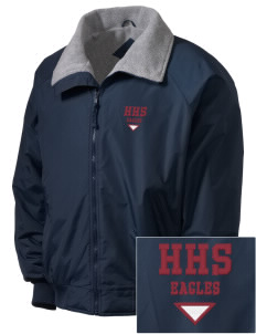 Hearne High School Eagles Embroidered Men's Fleece-Lined Jacket