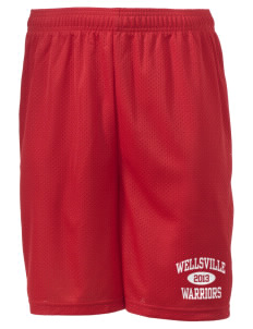"Wellsville Elementary School Warriors Men's Mesh Shorts, 7-1/2"" Inseam"