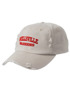 Wellsville Elementary School Warriors Embroidered Distressed Cap