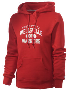 Wellsville Elementary School Warriors Russell Women's Pro Cotton Fleece Hooded Sweatshirt