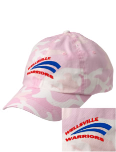 Wellsville Elementary School Warriors Embroidered Camouflage Cotton Cap