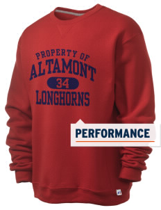 Altamont High School Longhorns  Russell Men's Dri-Power Crewneck Sweatshirt