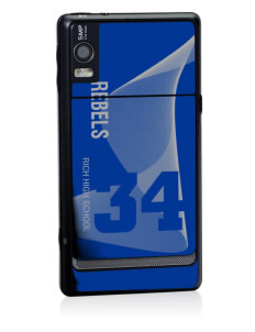 Rich High School Rebels Motorola Droid 2 Skin
